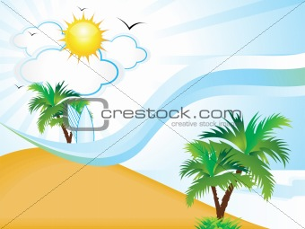 abstract clean summer holiday background