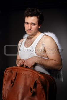 Mr. Angel with bag