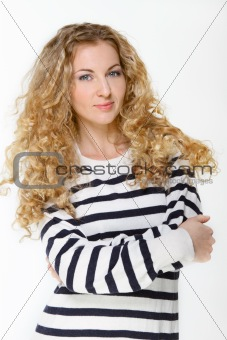 Portrait of the beautiful blond girl