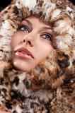 woman i furry coat
