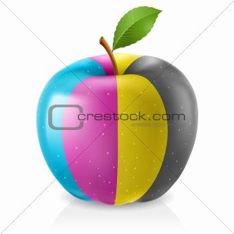 Delicious CMYK apple