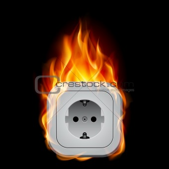Realistic burning socket