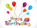 abstract colorful happy birthday concept