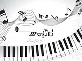 abstract musical background with piano