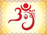 ganesha based om text artistic template