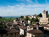 view of saint emilion town in france