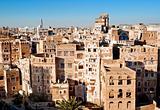 sanaa, yemen - traditional yemeni architecture