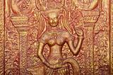 buddhist mural in phnom penh cambodia