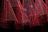 incense coils in chinese temple ho chi minh saigon vietnam