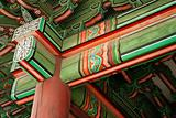 detail of temple in seoul south korea