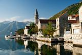 perast village near kotor in montenegro