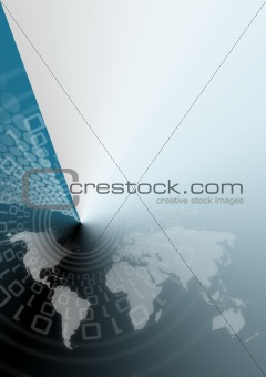 Blue global background