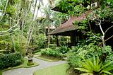tropical gardens in bali indonesia