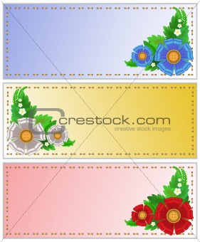 A set of cards with flowers