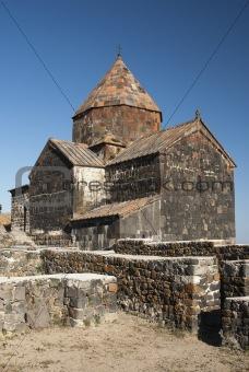 ancient armenian church on lake sevan armenia