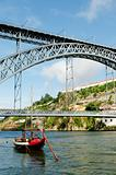 dom luis bridge in porto portugal