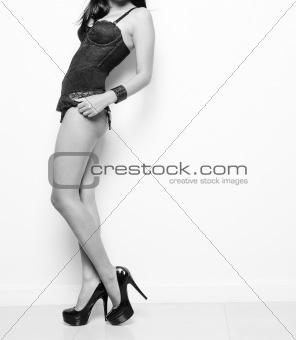 sexy female model in lingerie