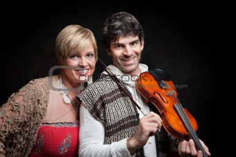 Couple With Violin