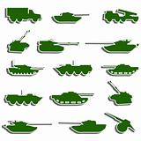 Vector Tanks, artillery and vehicles from second world war