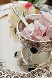 Easten sweets in silver ware