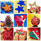 Christmas items collage