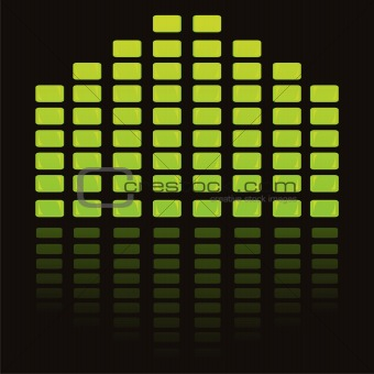 green musical equalizer