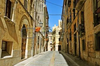 old town of Tarragona, Spain
