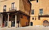 medieval building in old town of Tarragona, Spain