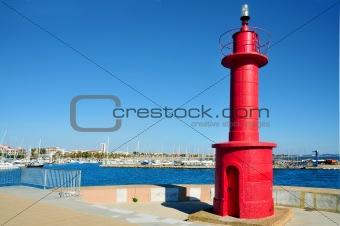 beacon in Cambrils, Spain