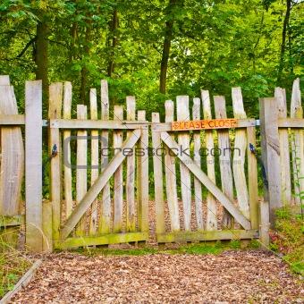Rickety gate