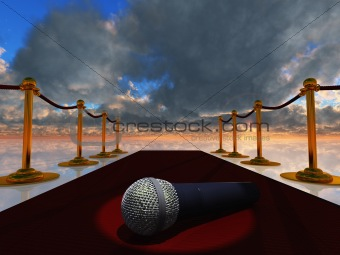 Red Carpet and Microphone