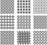 Set of stylish seamless geometrical backgrounds pattern