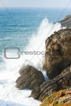 cliffs at Sao Pedro de Moel, Estremadura, Portugal