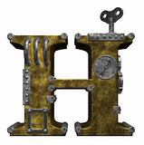 steampunk letter h
