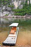 Bamboo raft in Li River