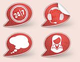 Collect Sticker with business woman and consultant icon