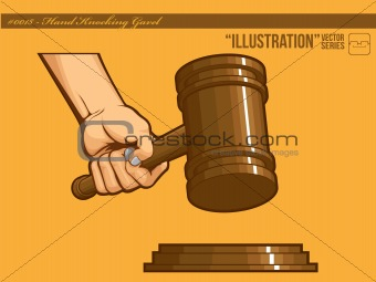 Illustration #0018 - Hand Knocking Gavel