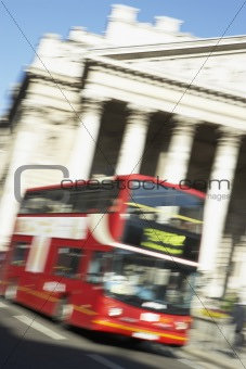 Bus Driving Past Royal Exchange