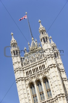 Flag Flying From Westminster Abbey, London, England