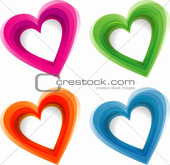 Abstract heart background, vector