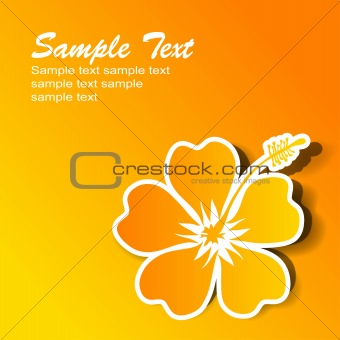Abstract hibiscus background, vector