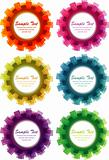 Abstract cogwheel background, vector