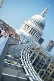St Paul's Cathedral And Millennium Footbridge