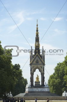 Tourists In Front Of Albert Memorial, London, England