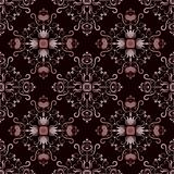 Brown seamless ornament with rhombuses