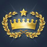 Best Royal King Crown with Quality Wreath Vector Illustration