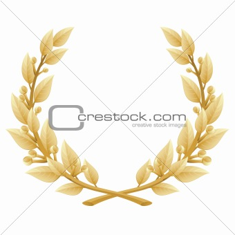 Detailed Laurel Wreath Victory or Quality Award, Vector