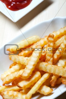 french fries on a typical plate
