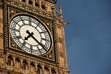 Intricate Clock Face Of Big Ben, London, England