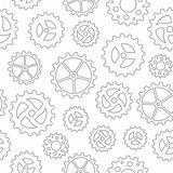 Gearwheels Seamless Background